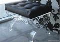 acrylic stool with cushion. lucite stool, plexiglass transparent stool 1
