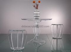 透明壓克力有機玻離洽談桌