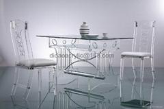 透明亞克力玻璃餐台