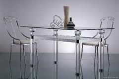 長方形壓克力餐台水晶台