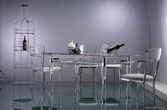 亞克力透明餐台傢具
