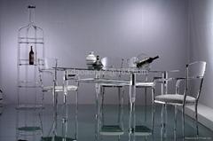 压克力透明餐台家具