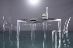 有机玻璃家具压克力餐台