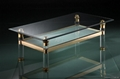plexiglass transparent acrylic table with metal frame