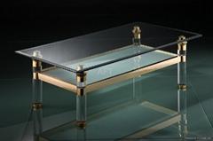 plexiglass transparent acrylic table with metal frame
