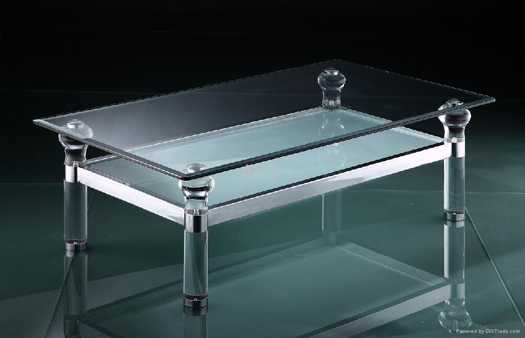 plexiglass transparent acrylic table with metal frame 2