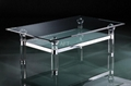 acrylic rectangle clear coffee table