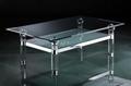 acrylic rectangle clear coffee table