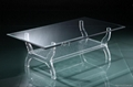 LUCITE GLASS RECTANGLE COFFEE TABLE