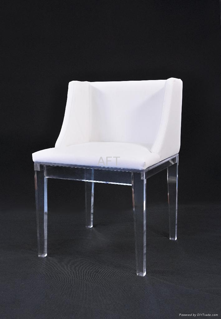 acrylic transparent leisure chair lucite chair with cushion 3