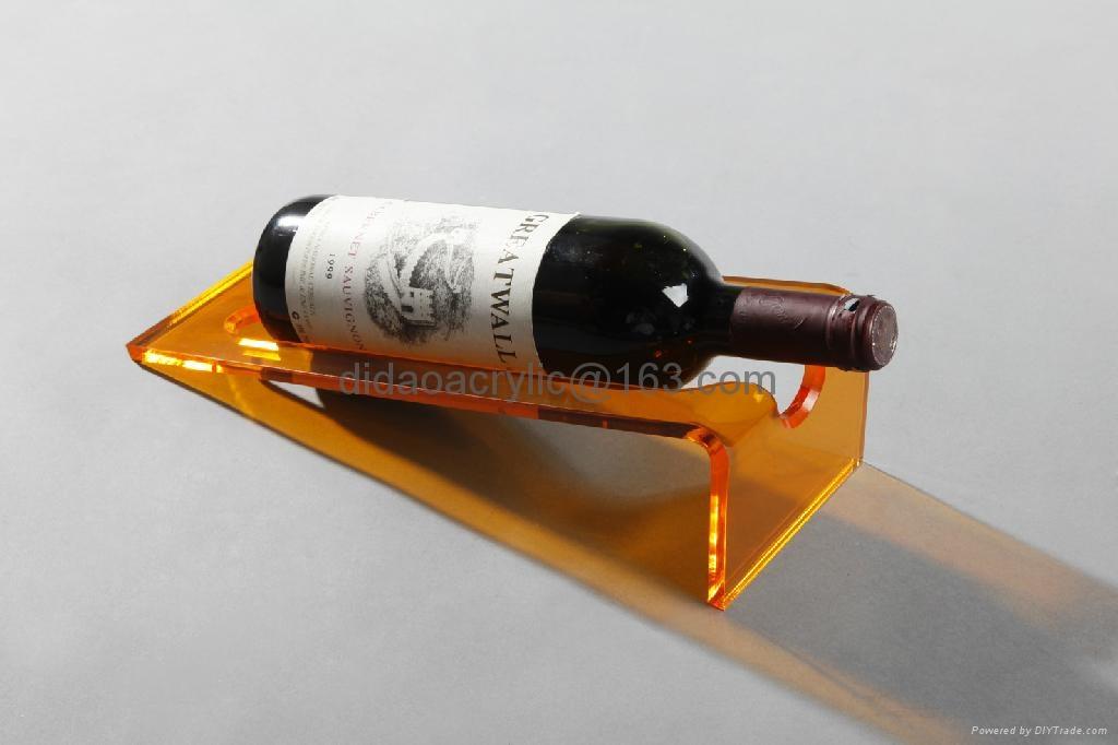 acrylic red wine holder, plexiglass wine display holder 1