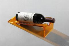 acrylic red wine holder, plexiglass wine display holder