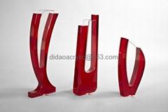acrylic modern vase  lucite glass vase