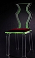 acrylic led wedding chair