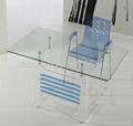 acrylic computer desk