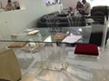 Transparent acrylic lucite  glass  dining table