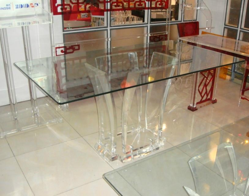 Transparent Acrylic Lucite Glass Dining Table Ct047