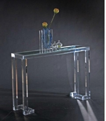Transparent acrylic wall console table