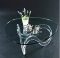 acrylic cocktail table lucite glass