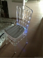 transparent acrylic chiavari wedding led chair