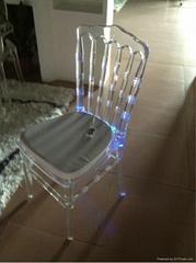 transparent acrylic chiavari wedding led chair