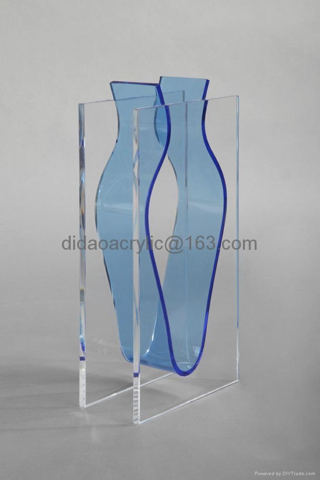 有机玻璃透明花瓶 2