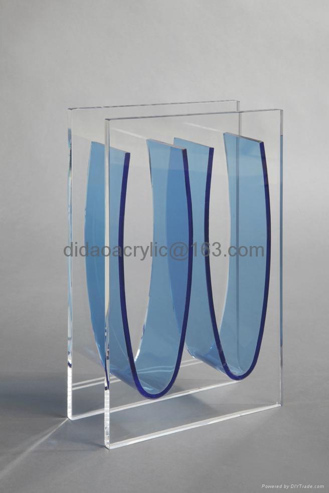 transparent glass vase, acrylic vase, perpex glass vase 2