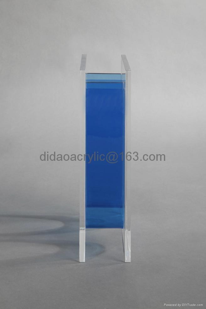 transparent glass vase, acrylic vase, perpex glass vase 3