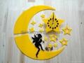 acrylic wall mounted clock, plexiglass clock, lucite clock