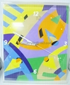acryic clock plexiglass wall clock  1