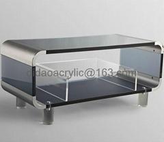 acrylic TV stand, plexiglass TV cabinet, lucite TV stand