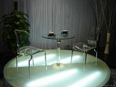acrylic traansparent plexiglass dining table