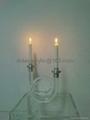 压克力透明双头烛台