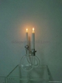 candle stick , acrylic clear candle stick , perpex glass candle holder