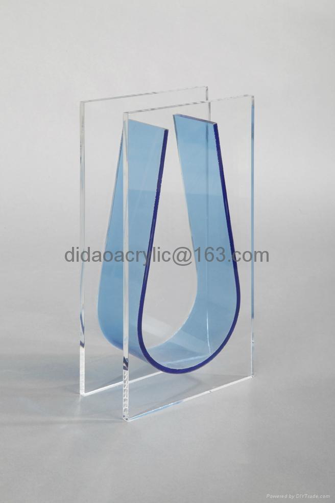 acrylic vase, perpex glass vase, plexiglass vase 2