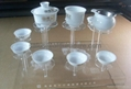 Acrylic ceramic tea cup display stand,