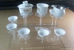 壓克力陶瓷茶具展示架