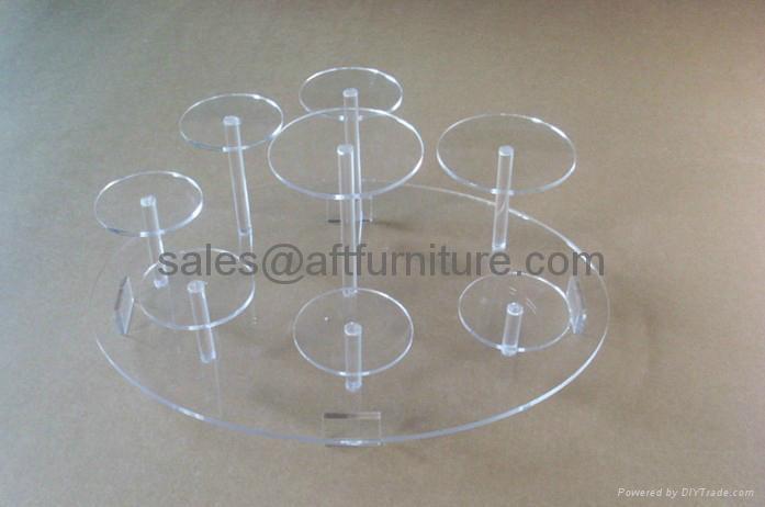 有機玻璃陶瓷茶具展示架,壓克力展示架 1