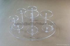 有机玻璃陶瓷茶具展示架,压克力展示架