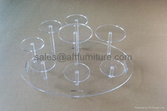 perpex glass ceramic cup display stand, plexiglass display stand