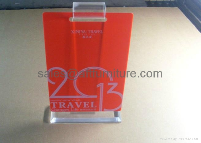 ACRYLIC CALENDER DISPLAY STAND PERPEX GLASS DISPLAY 1