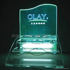 led acrylic display,perspex led display,cosmetic display