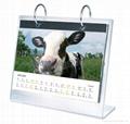 acrylic calendar display, perspex calendar stand