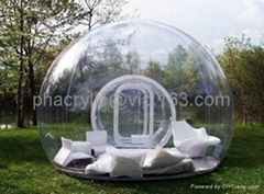 outdoor plexiglass sphere house