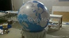acrylic earth globe plexiglass dome,  lucite dome