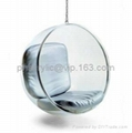 Acrylic  hanging bubble chair/PU cushion swing chair