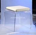 透明压克力椅带软垫