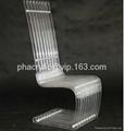 plexiglass high back transparent chair