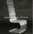 plexiglass high back transparent chair