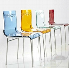 lucite transparent dining chair